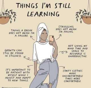 Things we are ALL still learning. Let this be your reminder today that you are indeed enough and worthy simply by being you. Not because WHAT YOU DO. Keep showing up and take small, but significant steps.