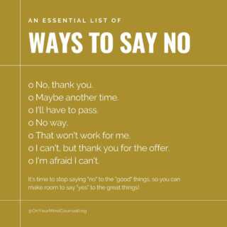 Do you struggle to say no? It's okay if you do. Holding up our personal boundaries can be difficult, but oh is it worth it. Let us help you take your power back ▶ OnYourMindCounselling.com