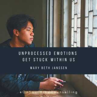 You don't have to carry the weight of your past any longer. You can learn to navigate pain and trial with awareness and skill. Don't let unprocessed emotions stay inside. Let's learn to work through them together. Book your first appointment at OnYourMindCounselling.com