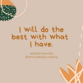 It's all you can do. And it is enough. #MondayMantra #OnYourMindCounselling #Ontario #Therapy #Mindfulness #Gratitude #MondayMotivation