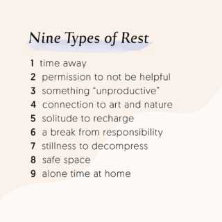 Listen to yourself. Take rest when you need to. by Steph Barron Hall