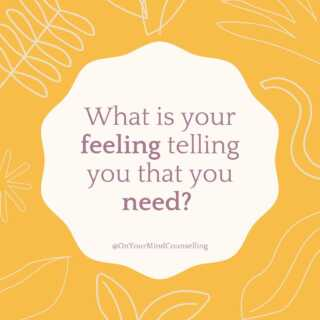Our feelings are communication tools. They tell us what we need. So, pause. Listen. Take inventory. And respond by doing what you know you need to do. #OnYourMindCounselling